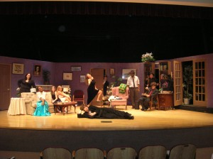 Curtain call from our first production, The Butler Did It.