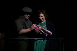Robert Pike as Tom and Amy Leigh Horan as Laura in Parlor Room Theater's production of Tennessee Williams' THE GLASS MENAGERIE
