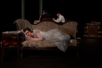 Amy Leigh Horan as Laura in Parlor Room Theater's production of Tennessee Williams' THE GLASS MENAGERIE