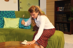 Kathryn Barrett-Gaines as Clelia Waldgrave in PRT's The Nerd by Larry Shue.