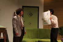 Thomas DiSalvo as Willum and Dillon DiSalvo as Rick in Parlor Room Theater's production of The Nerd by Larry Shue, running through August 3. Photo by Meagan C. Beach.