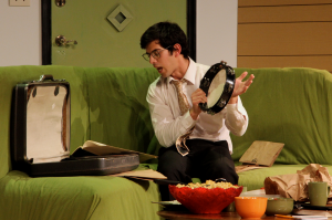 Dillon DiSalvo as Rick Steadman in Parlor Room Theater's production of The Nerd by Larry Shue, running through August 3. Photo by Meagan C. Beach.
