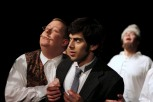 Phil Dickerson as Doctor Zubritsky and Dillon DiSalvo as Leon in Parlor Room Theater's production of Fools by Neil Simon