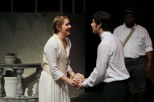 Sarah Pullen as Sophia and Dillon DiSalvo as Leon in Parlor Room Theater's production of Fools by Neil Simon.